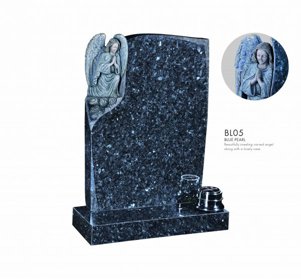 BELLE LAPIDI - Carved Kneeling Angel Memorial - BL05