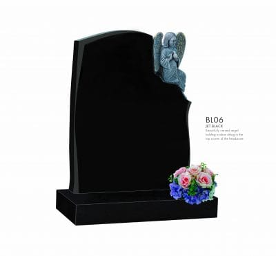 BELLE LAPIDI - Carved Angel holding Dove Memorial - BL06