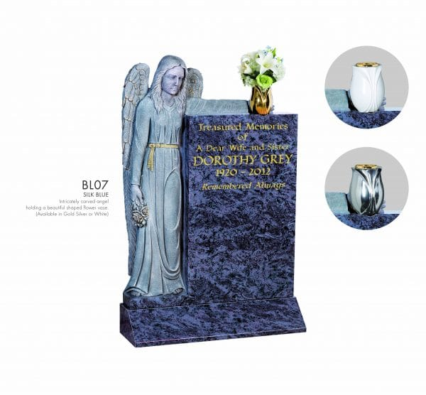 BELLE LAPIDI Carved Standing Angel Memorial - BL07