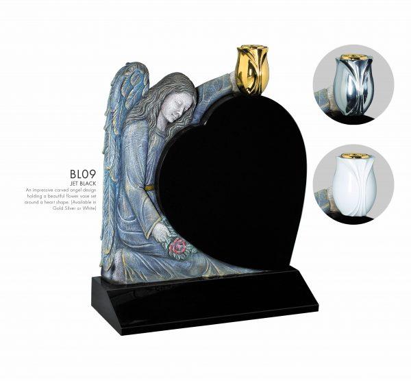 BELLE LAPIDI Carved Angel Heart Memorial - BL09
