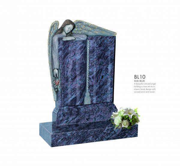 BELLE LAPIDI Carved Angel Book Memorial - BL10