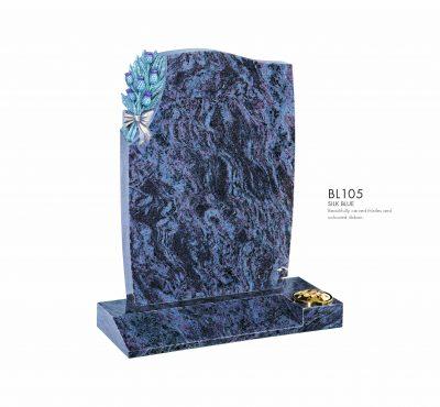 BELLE LAPIDI - Carved thistles & ribbon memorial - BL105