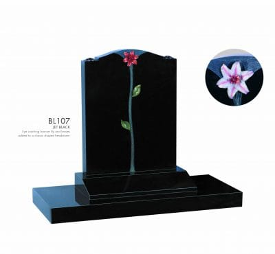 BELLE LAPIDI - Bronze lily & leaves Memorial - BL107
