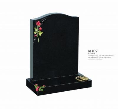 BELLE LAPIDI - Rose & sparkle effect memorial - BL109
