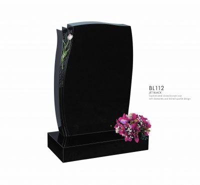 BELLE LAPIDI - Closed bronze rose memorial - BL112