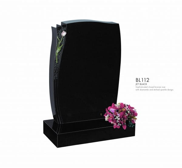 BELLE LAPIDI - Closed bronze rose memorial - BL112