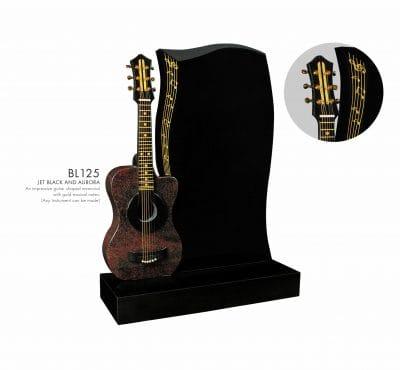 BELLE LAPIDI - Guitar shaped memorial