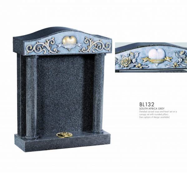 BELLE LAPIDI - Carved heart & scroll canopy set - BL132