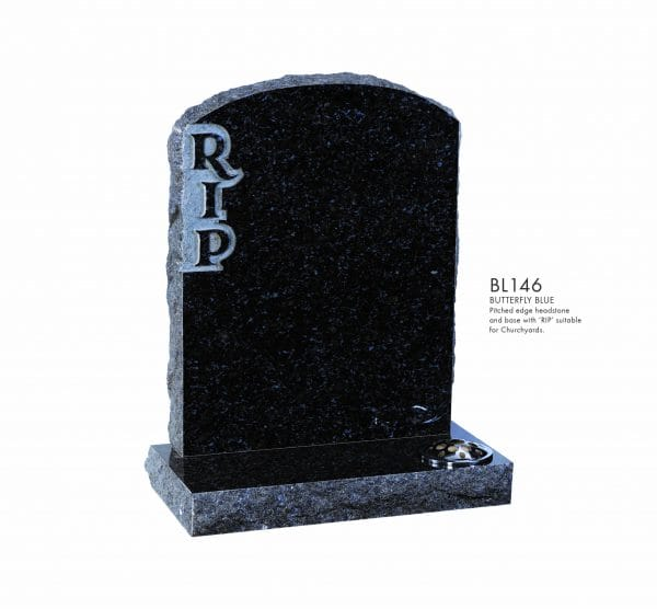 BELLE LAPIDI - Pitched edge memorial RIP - BL146