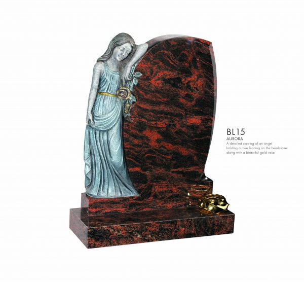 BELLE LAPIDI Carved Angel Memorial - BL15