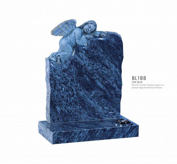 BELLE LAPIDI - Carved sleeping angel memorial - BL188