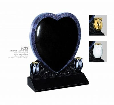 BELLE LAPIDI - Heart memorials with sparkle effect  - BL22