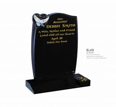 BELLE LAPIDI - Carved dove with sparkle effect memorial - BL48