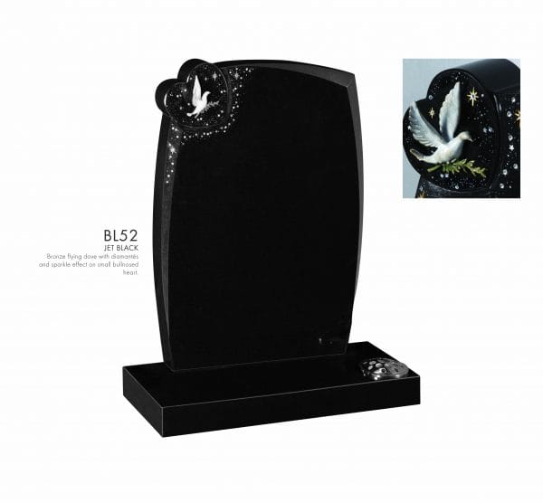 BELLE LAPIDI - Dove on a heart with sparkle effect memorial - BL52
