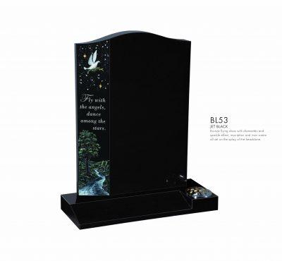BELLE LAPIDI - Dove with river scene memorial - BL53