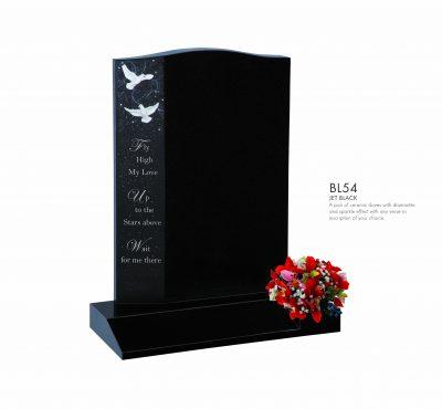 BELLE LAPIDI - Dove with sparkle effect & inscription memorial - BL54