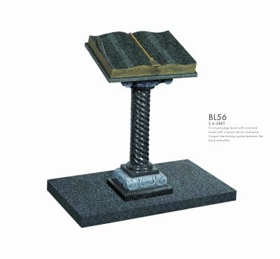 BELLE LAPIDI - Book with ornate pillar memorial - BL56