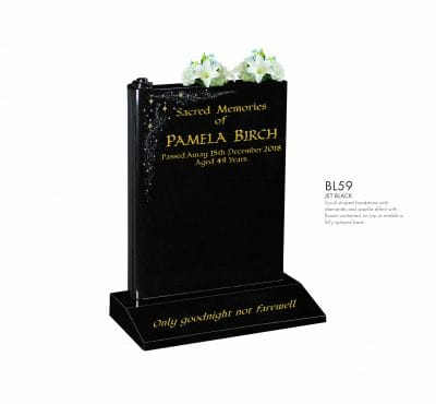 BELLE LAPIDI - Scroll shaped memorial with sparkle effect - BL59