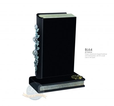 BELLE LAPIDI - Book memorial with carved roses - BL64