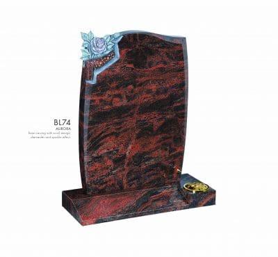 BELLE LAPIDI - Rose carving with scroll design memorial - BL74