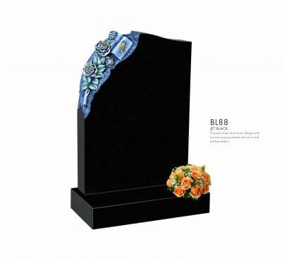 BELLE LAPIDI - Carved Rose & book memorial - BL88