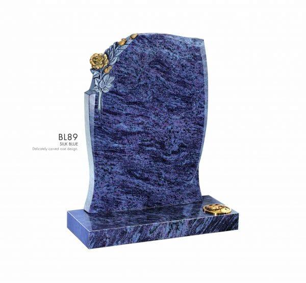 BELLE LAPIDI - Carved rose memorial - BL89