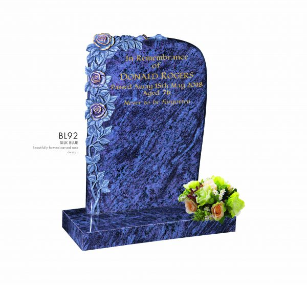 BELLE LAPIDI - Carved rose memorial - BL92