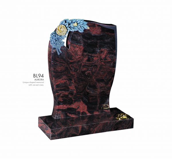 BELLE LAPIDI - Carved rose memorial - BL94