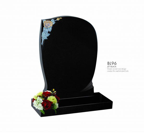 BELLE LAPIDI - Carved rose memorial - BL96