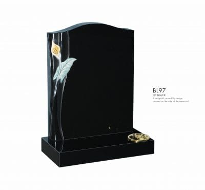 BELLE LAPIDI - Carved lily memorial - BL97