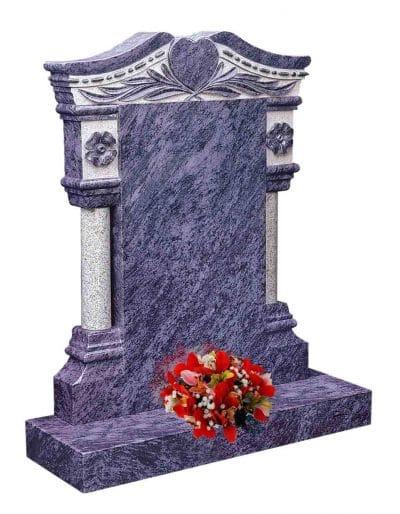 Evermore Pillar Memorial with Heart Design - TEC 108