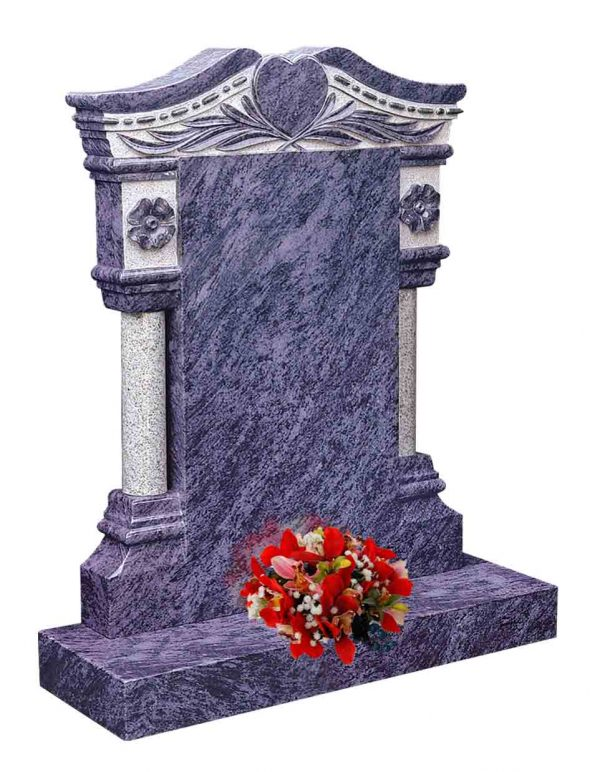 Evermore Pillar Memorial with Heart Design - TEC 108