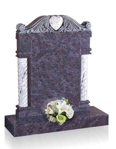 Evermore Pillar Memorial with Heart Design Memorial - TEC 111