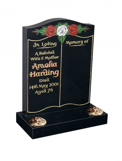 Evermore Book with painted Roses Memorial - TEC 116
