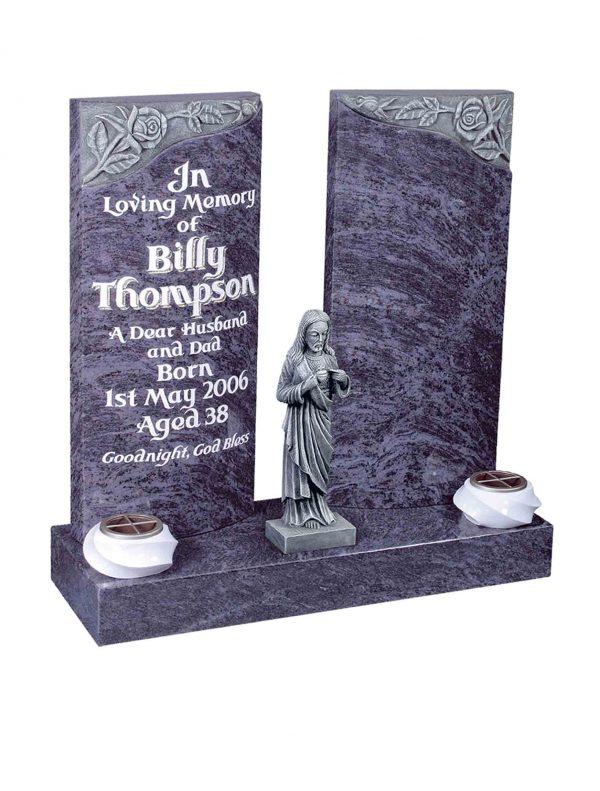 Evermore Carved Rose Split Memorial - TEC 122