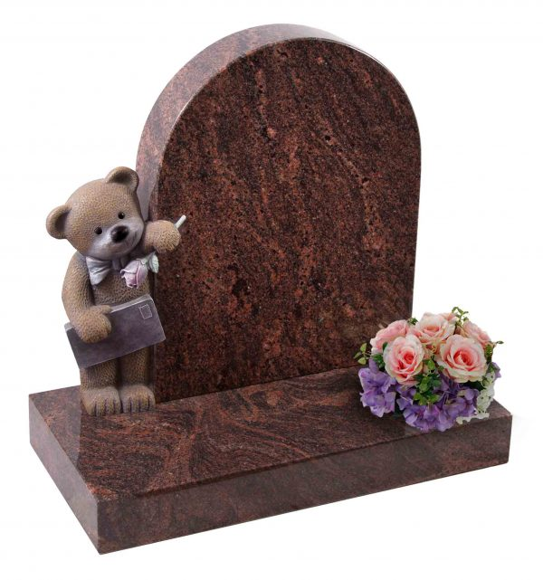 Evermore Teddy Bear holding Rose and Letter Memorial - TEC 154