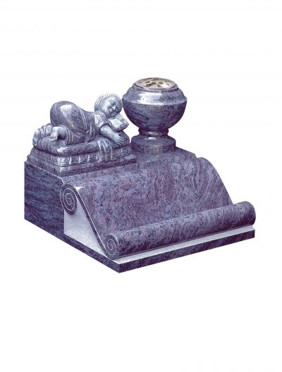 Evermore Scroll with baby Memorial - TEC 157