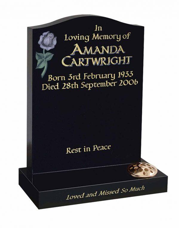 Evermore Carved Rose Memorial - TEC 17