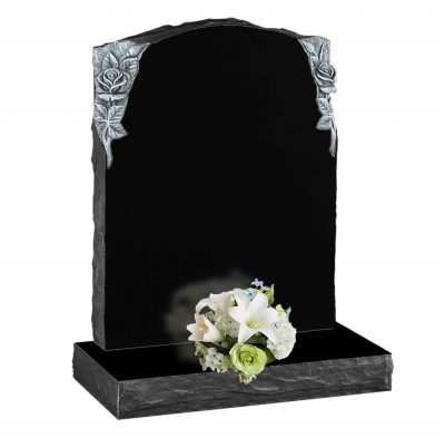 Evermore Carved Rose Memorial with Pitched Edge - TEC 178