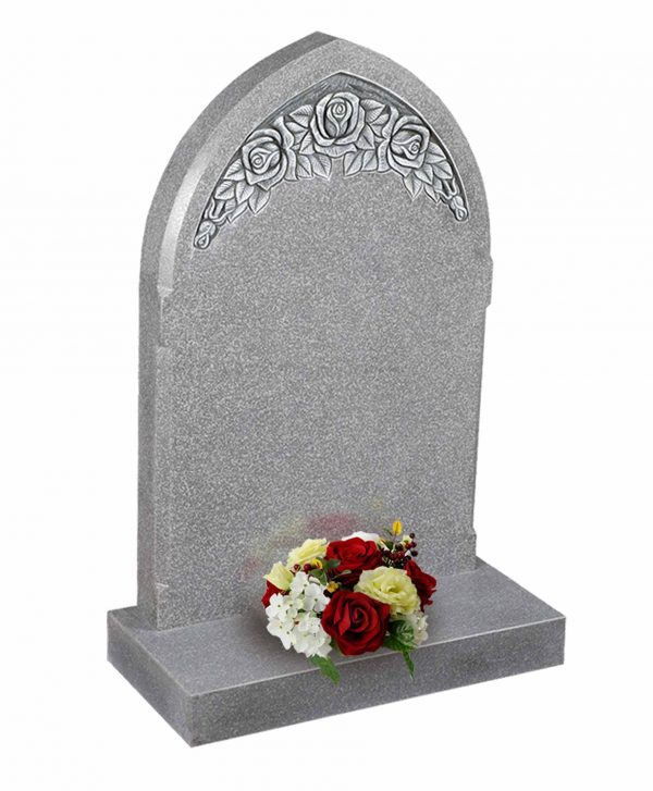 Evermore Carved Rose Memorial - TEC 37