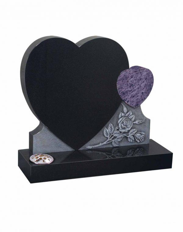 Evermore Double Heart Memorial - TEC 49