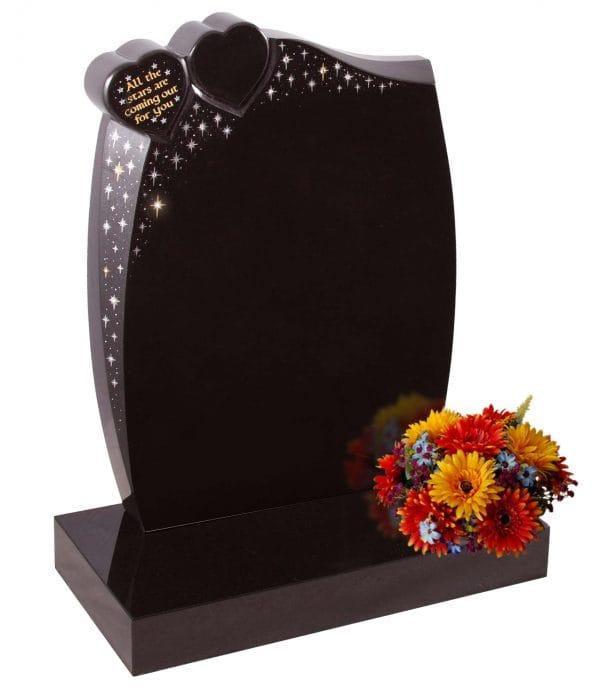 Evermore Double Heart Starry Sky Memorial - TEC 58