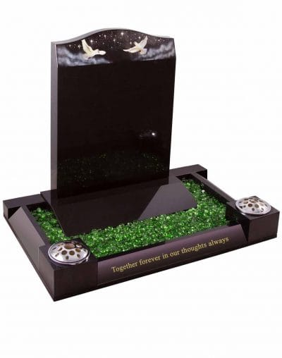 Evermore Dove Starry Sky Memorial with surround - TEC 59