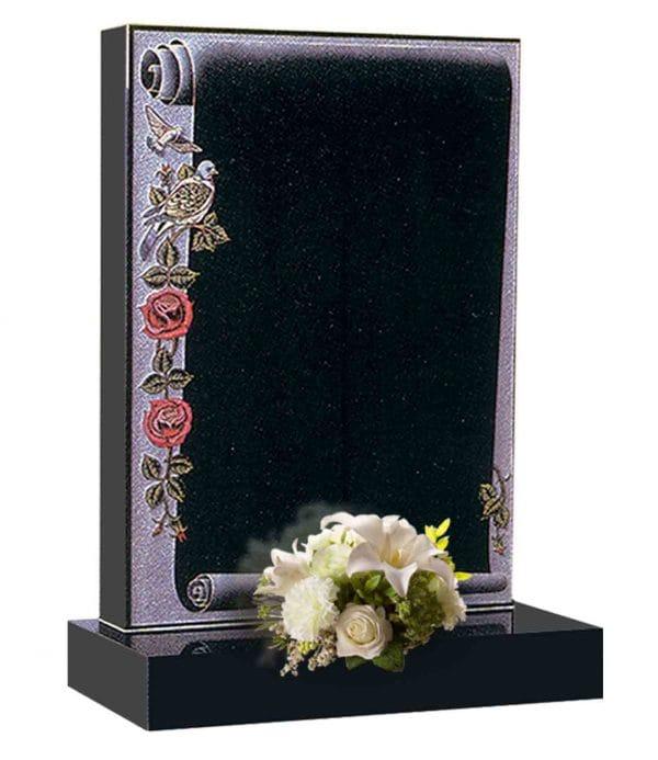 Evermore Scroll & Roses Memorial - TEC 80