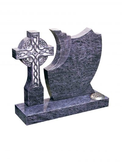 Evermore Cross with Shaped Memorial - TEC 85