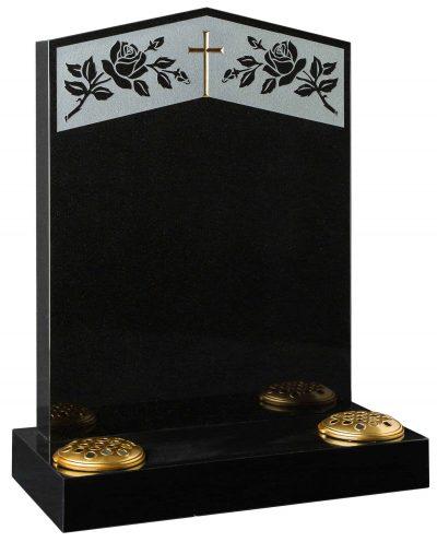COTSWOLD - Rose & cross memorial - 16002