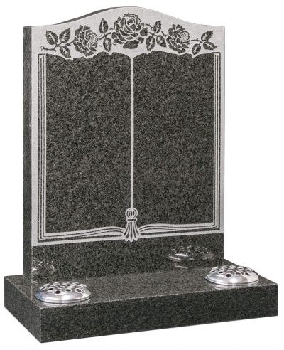 COTSWOLD - Book & rose memorial - 16022
