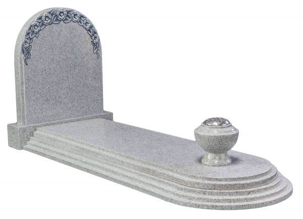 COTSWOLD - Round top with carved roses kerb set - 16089
