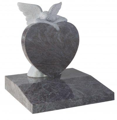 COTSWOLD - Heart & angel memorial - 16104