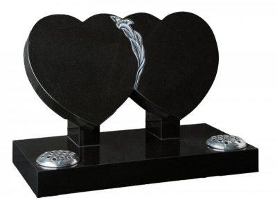 COTSWOLD - Double heart memorial - 16106